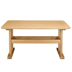 リビングダイニング兼用テーブル(幅130奥行75高さ64cm)/天然木アッシュ突板/F★★★★(ナチュラル)