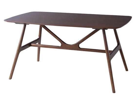天然木チーク突板ダイニングテーブル(幅150奥行90高さ74cm)