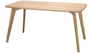 タモ(アッシュ)突板 ダイニングテーブル(4人用/幅150奥行80高さ72cm)