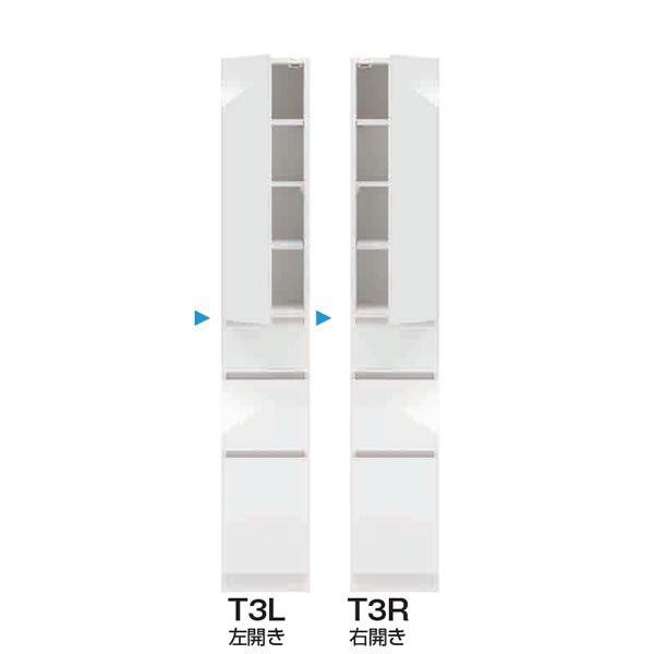 スリムすきまくんSSD T3タイプ/板扉キャビネット 幅15-45x奥行42/52x高さ180.2cm