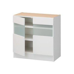 3Dすきまくん 組合せ自由カウンター 下台ガラス扉ユニットG(幅60〜120x高さ70〜100x奥行26〜45cm)