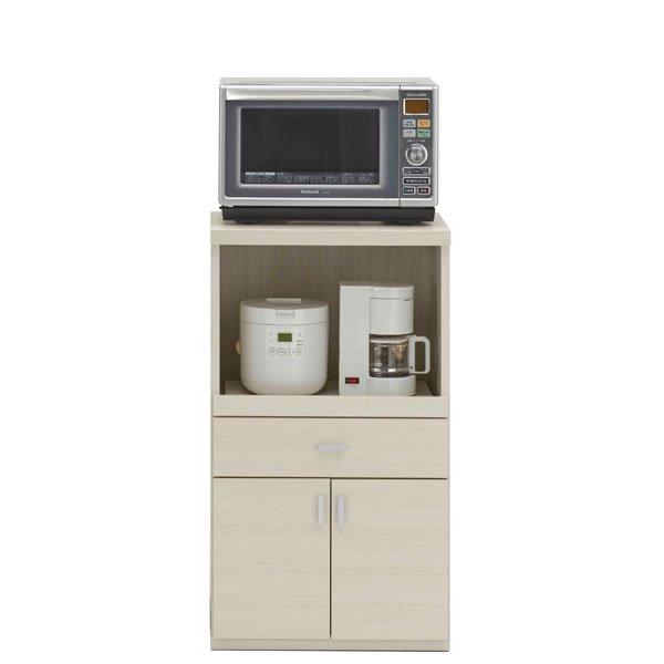 フナモコ レンジカウンター SRS-55LC/スマートキッチンSR(幅55x奥行44.7x高さ97cm/ホワイトウッド)
