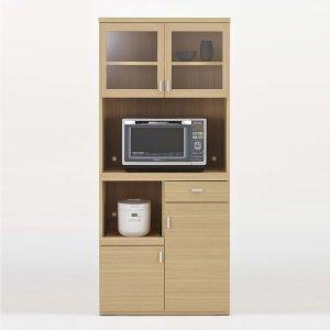 フナモコ キッチンレンジボード SKA-81R/スマートキッチンSK(幅79.2x奥行44.5x高さ180cm/エリーゼアッシュ)