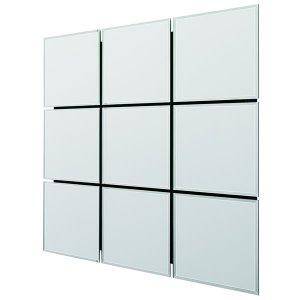 Mosaic series ウォールミラー モザイクNo9 /面取り・飛散防止加工(幅89x高さ89cm)