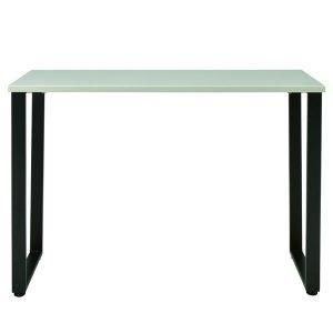 クールグレー鏡面仕上げ天板のカウンターテーブル CT-34-K110/スチールフレーム脚(幅110x奥行40x高さ83.5cm)