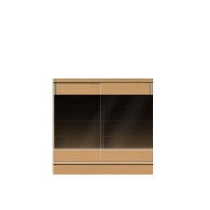 フルチョイス引戸キャビネット シータ/引戸BGブロンズガラス(幅:75/90/105/120x1cm単位オーダー:奥行19-44x高さ64-105cm)
