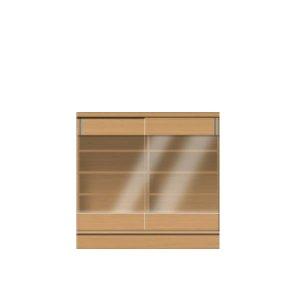 フルチョイス引戸キャビネット シータ/引戸CGクリアガラス(幅:75/90/105/120x1cm単位オーダー:奥行19-44x高さ64-105cm)