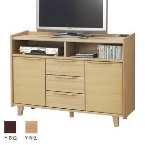 北欧テイスト天然木リビングボード OPX-2212 ハイタイプTV台 (幅120x奥行37x高さ84.5cm)