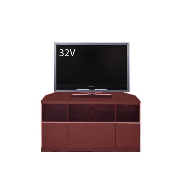 Dee ディー コーナーTVボード ブラウン色/壁面置きも可能 ゲーム機収納 37/46型対応(幅90x奥行43x高さ42cm 完成品)