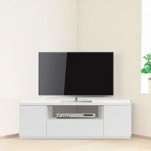 Dee ディー 超薄型コーナーテレビボード(ガラス無し)/壁面置きも可能 (幅120x奥行35.2x高さ41cm 完成品)