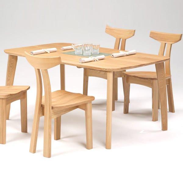 天然木タモ無垢ダイニングテーブル150幅/ユートップ カスク CAT-1504(幅150x奥90x高さ69cm)