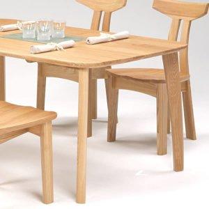 天然木タモ無垢ダイニングテーブル135幅/ユートップ カスク CAT-1354(幅135x奥85x高さ69cm)