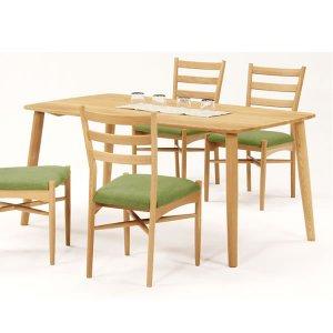 天然木タモ無垢ダイニングテーブル150幅/ユートップ ルーミー RMT-1504(NA色 幅150x奥85x高さ70cm)