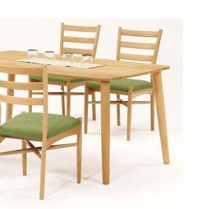 天然木タモ無垢ダイニングテーブル135幅/ユートップ ルーミー RMT-1354(NA色 幅135x奥80x高さ70cm)