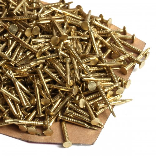BRASS CLINCH ONE POUND NAILS