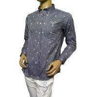 20224020 シナコバのオリジナル模様のジャガードダンガリーシャツ