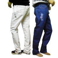 21225030 刺繍が2箇所のストレッチジーンズ