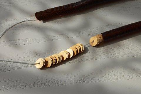 糸通しスパンコール/メタリックマットゴールド 5mm〔フランス製〕