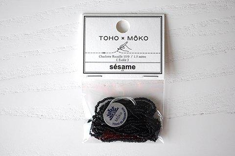 【TOHO×MOKO】シャーロットビーズ 15/0 ゴマ