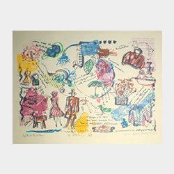 「旅のメモリー(�)」 シルクスクリーン 20cm×26cm(縦×横)