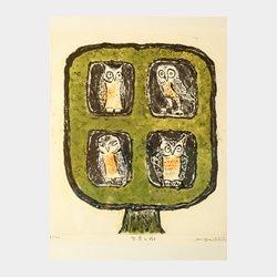 智者の樹 エッチング 40cm×36.5cm (縦×横)