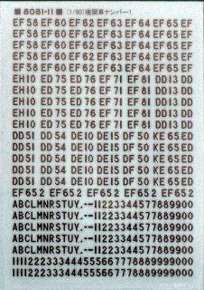 TTL8081-11 【1/80】機関車ナンバー1(金属インレタ)