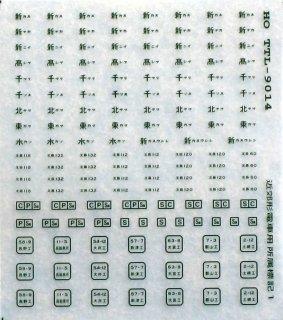 TTL8014E 【1/80】近郊型電車所属標記No.1 緑色