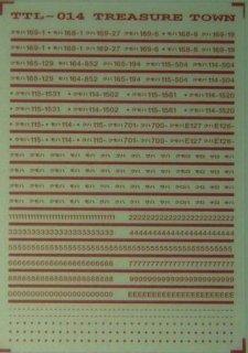 【N】TTL014K 車番標記(角ゴシック)/赤2号