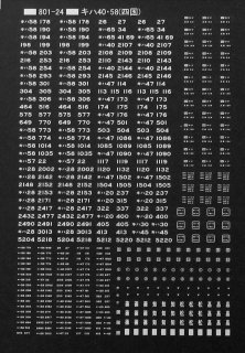 【N】TTL801-24A キハ40・58系標記(四国) 白
