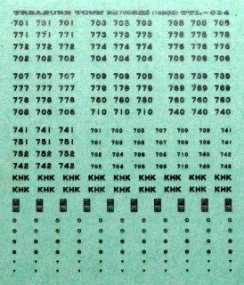 【N】TTL034特 京急700形標記(1/3次車用)/メタリック銀