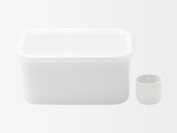 ぬか漬け用琺瑯容器