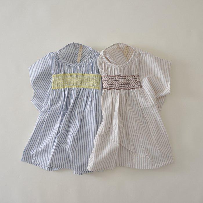 刺繍スモックワンピース[20S/S SALE]