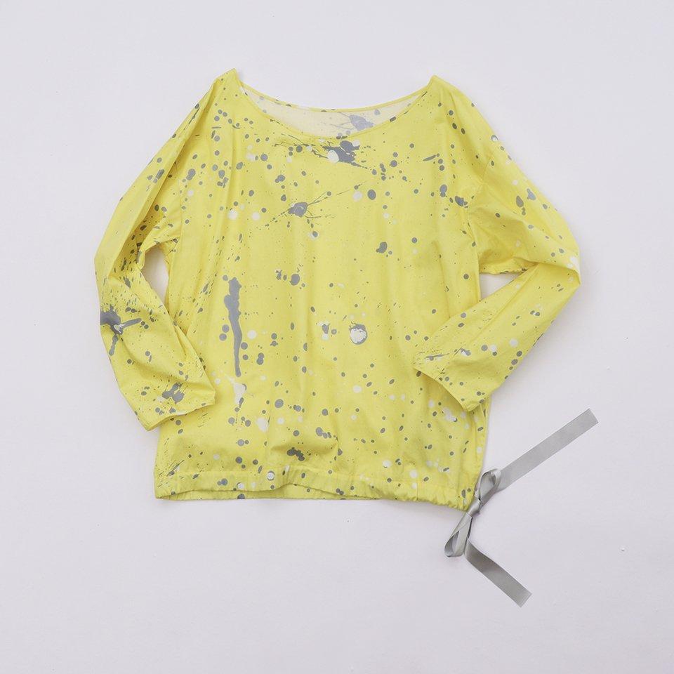 レディスボートネックブラウス 3「 水たまり Yellow 」