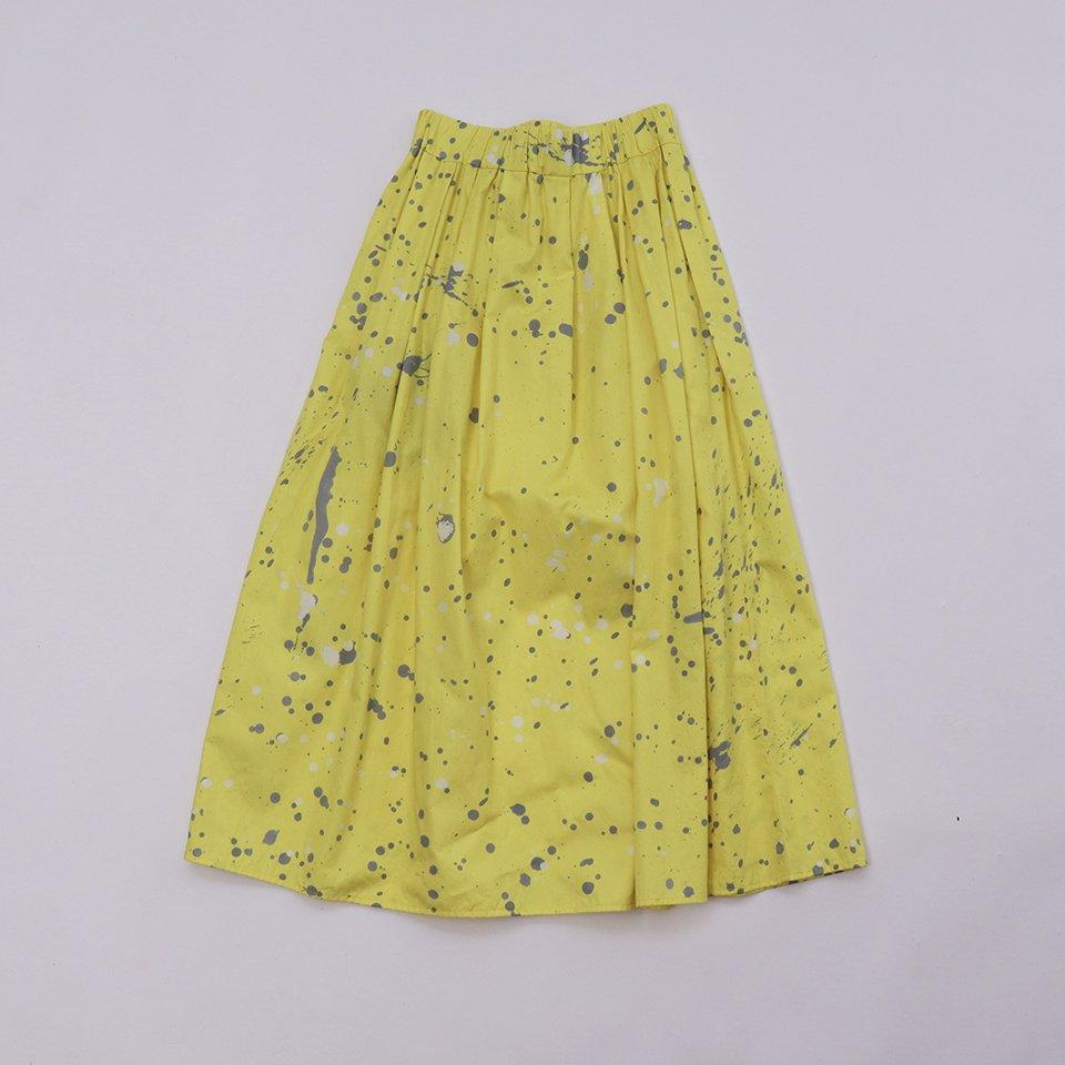 レディスロングスカート 3「水たまり Yellow」