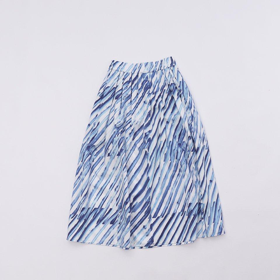 レディスロングスカート  5「 さざなみ Blue 」