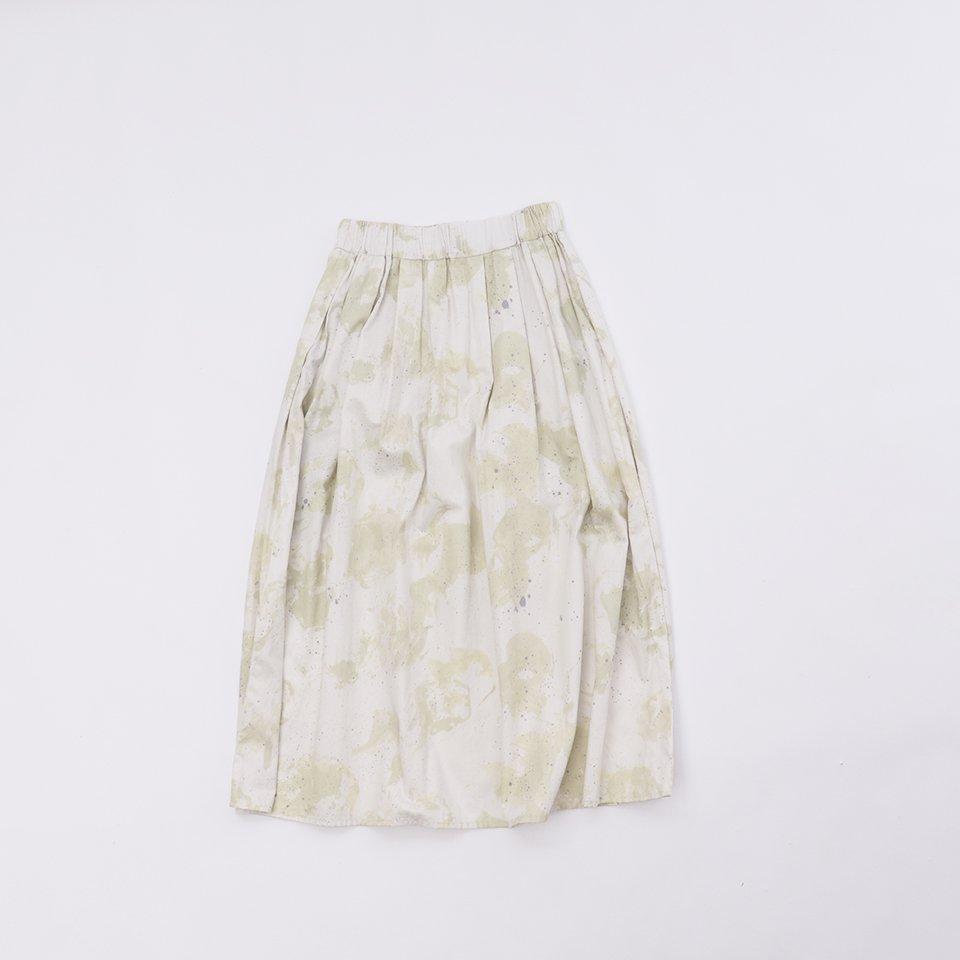 レディスロングスカート  6「 moss White×Khaki 」