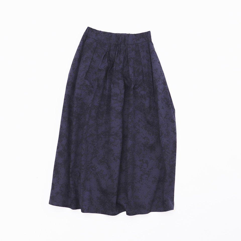 レディスロングスカート 8「 薔薇 Navy 」