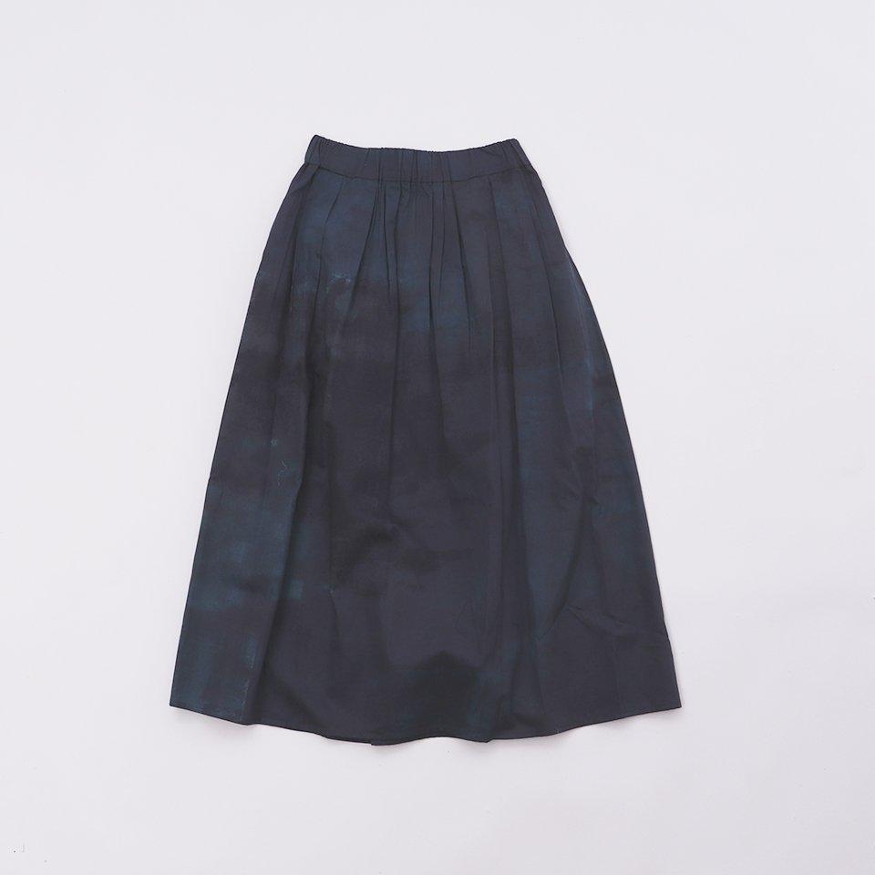 レディスロングスカート 9「 雨 Green 」