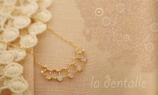 la dentalle Necklace-Opal