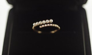 Many Pearls & Diamonds Ring