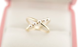 Pearl Cross Ring