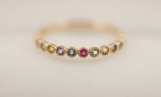 Multi Colored Stone Ring