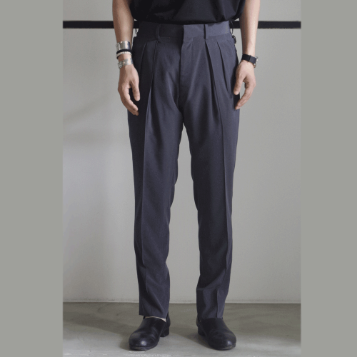 RAINMAKER【レインメーカー】2-PLEATED TROUSERS/CHACOAL