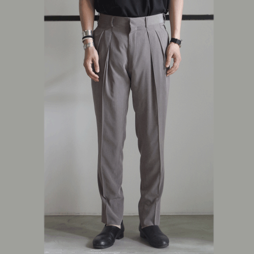 RAINMAKER【レインメーカー】2-PLEATED TROUSERS/TAUPE