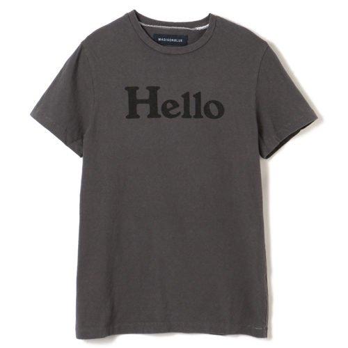 MADISONBLUE【マディソンブルー】 HELLO クルーネックTシャツ GRAY