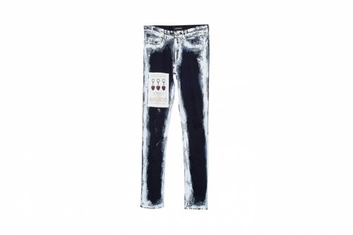 YUKI HASHIMOTO【ユウキハシモト】CHARCOAL PAINT SLIM JEANS BLACK-W