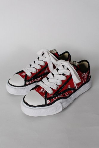 Maison MIHARA YASUHIRO 【メゾンミハラヤスヒロ】original sole bandana printed canvas lowcut sneaker/ A06FW732 RED
