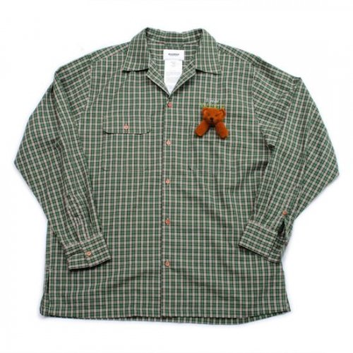 doublet【ダブレット】CHECK SHIRT WITH MY FRIEND GREEN 21SS15SH91