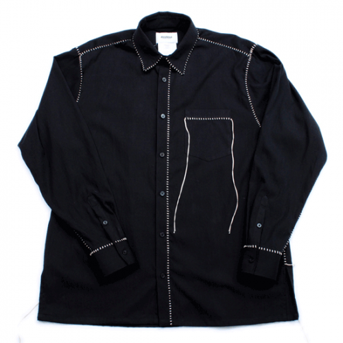 doublet【ダブレット】BIG STITCH SHIRT BLACK 21SS13SH92