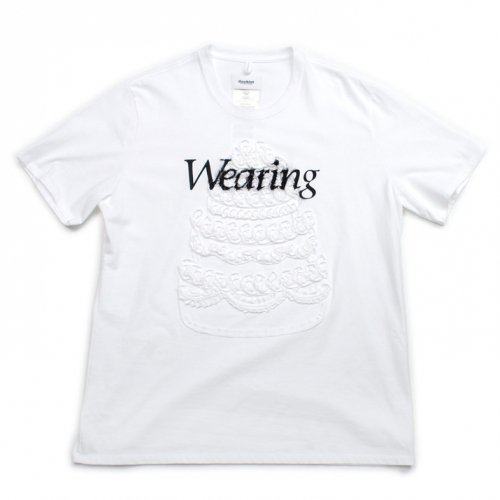 doublet【ダブレット】MEN CAKE EMBROIDERY T-SHIRT WHITE 21SS34CS175